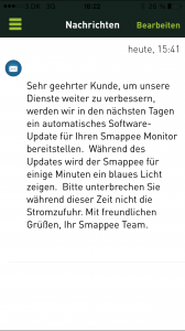 Ankündigung Update Firmware